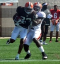 Richardson has been impressive in camp. Will knee soreness fprce the Browns to slow him down?