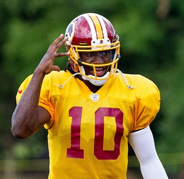 There are many twists and turns still to come for Robert Griffin III.(Photo by Keith Allison)